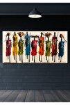 60x120 Totemler Duvar Kanvas Tablo