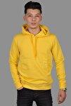 Sarı Sweat Kapşonlu Dar Kalıp