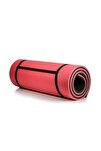 16 Mm Pilates Matı Kırmızı - Gri
