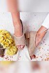 Kacie Gerçek Hasır Alçak Topuklu Sandalet