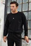 Erkek Siyah Jordan Baskılı Sweatshirt