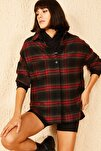 Kadın Desenli Cepli Kaşe Gömlek