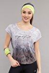 Siyah Pamuk/Poly  Kadın T-Shirt ES-3572