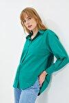 Yeşil Boyfriend Gömlek TWOAW20GO0115