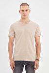 Ten Erkek Basic Slim Fit V Yaka Kısa Kollu T-Shirt TMNSS19BO0002