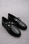 Kadın Hakiki Deri Comfort Ayakkabı Demassiyah Rugan