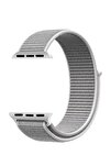 Apple Watch Dokuma Kordon Kayış 7 - 6 - Se - 5 - 4 - 3 - 2 - 1 42mm 44mm - Gri