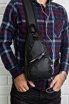 Unisex Yıkama Deri Usb Kulaklık Çıkışı Çapraz Askılı Bel Omuz Göğüs Günlük Seyahat Çanta Bodybag