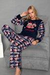 Lacivert Welsoft Pijama Takim