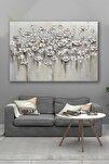 70x100 Soğuk Çiçekler Kanvas Tablo