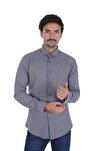 Erkek Kahverengi Düz Renk Oduncu Gömlek