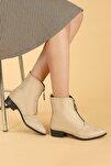 Kadın Bej Bot Ayakkabı