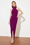 Mürdüm Yaka Detaylı Abiye & Mezuniyet Elbisesi TPRSS21AE0039