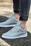 07 Gri Beyaz Dikişli Unisex Spor Ayakkabı