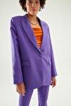 Kadın Mor Blazer Ceket