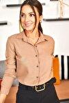 Kadın Vizon Uzun Kollu Düz Gömlek ARM-18Y001176