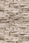 9300 Bej Geçmeli Yığma Taş Desenli Duvar Kağıdı