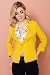 Kadın Sarı Asimetrik Duble Kol Ceket 20Y.EKL.CKT.03010.1