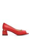 Kırmızı Kadın Vegan Abiye Ayakkabı 22 6292 BN AYK Y19