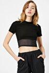 Kadın Siyah T-Shirt 0YAL18625IK