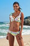 Kadın Fırfır Detaylı Bikini  Alt 209202-D Leopard