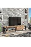 Defne 140 Cm Tv Ünitesi - Atlantik Çam / Siyah