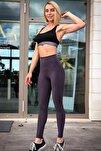 Kadın Antrasit Toparlayıcı Ekstra Yüksek Bel Spor Tayt(12 Renk) Stk25