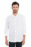 Erkek Casual Keten Gömlek - White S20M0220Y1201
