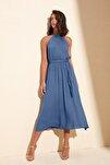 Indigo Kuşaklı Elbise TWOSS19EL0155