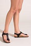 Kadın Siyah Sandalet B777805009