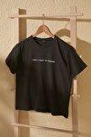 Antrasit Baskılı Semi-Fitted Örme T-Shirt TWOSS20TS0207