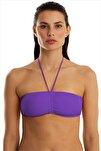 Kadın Mor Bikini Üstü 63541