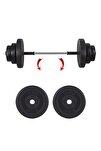 SPOR 22 Kg Halter Seti - Deadlift Squat Biceps Triceps Shoulder