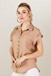 Kadın Bej Duble Kol Gömlek 20Y.On.Gml.32241.01