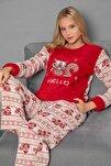 Kirmizi Welsoft Pijama Takim