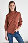 Kahverengi Basic Gömlek TWOAW21GO0220