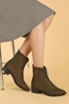 Kadın Haki Bot Ayakkabı