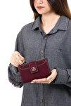 Kadın Bordo Kartlıklı Patlı Mini Cüzdan
