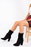 Kadın Siyah Süet Topuklu Bot Wenti Ws131