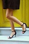 Kadın Kroko Siyah Topuklu Ayakkabı