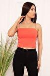 Kadın Pembe İp Askılı Basic Bluz Esp01