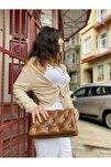 Kadın Taba Yumoş Troklu Çapraz Askılı Omuz Çantası