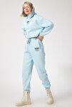Kadın Gök Mavi Polarlı Baskılı Eşofman Takımı  DD00730