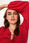 Kadın Mat Kırmızı Bluz 0WDY31Z8