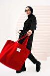 Kadın Kırmızı Canvas Çanta