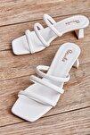 Beyaz Kadın Sandalet L0533001509