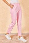 Kadın Açık Pembe Kalem Pantolon