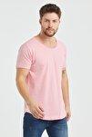 Erkek Fuşya  Salaş T-shirt