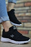 Unisex Siyah Beyaz  Sneaker 12020