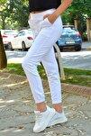 Kadın Beyaz Cepli Jogger Eşofman Altı